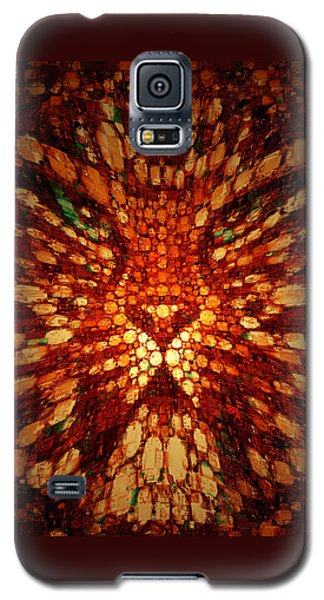 Galaxy S5 Case featuring the digital art Meow by Paula Ayers