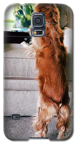 Galaxy S5 Case featuring the photograph Meow Woof by Polly Peacock