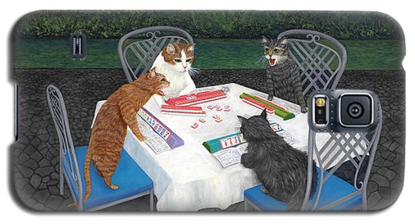 Meowjongg - Cats Playing Mahjongg Galaxy S5 Case
