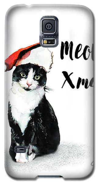 Galaxy S5 Case featuring the painting Meowy Xmas by Colleen Taylor