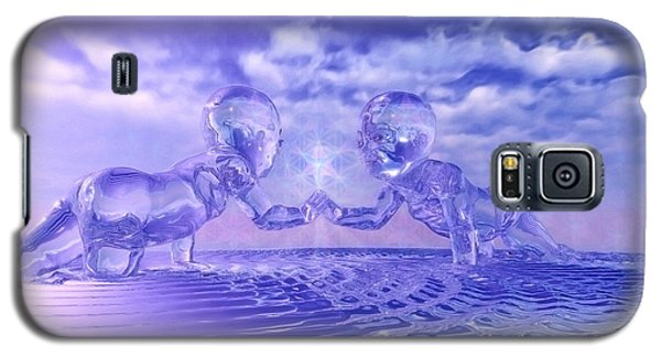 Galaxy S5 Case featuring the painting Merkaba Babies by Robby Donaghey