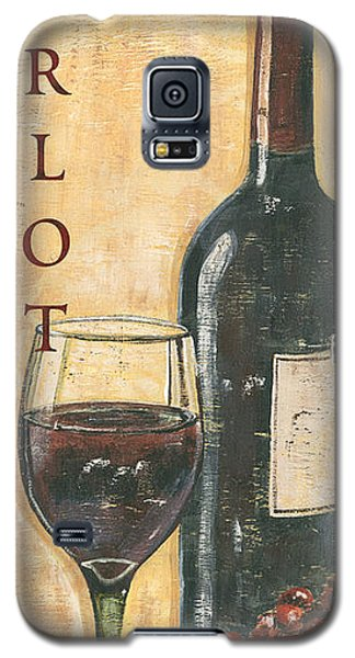 Wine Galaxy S5 Case - Merlot Wine And Grapes by Debbie DeWitt