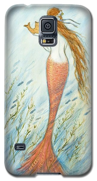 Catfish Galaxy S5 Case - Mermaid And Her Catfish, Goldie by Tina Obrien
