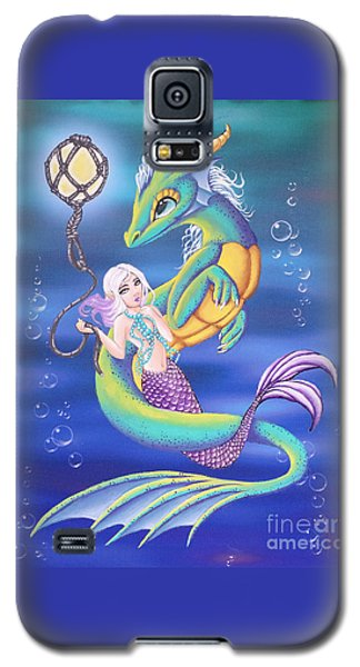 Mermaid And Sea Dragon Galaxy S5 Case