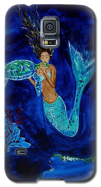 Mermaid And The Sea Turtle Galaxy S5 Case