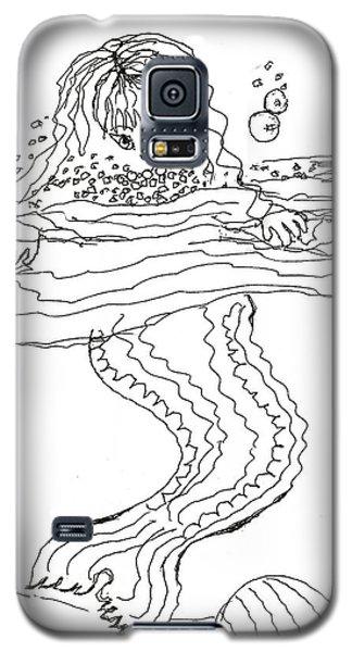 Mermaid Bubblebath Bw Galaxy S5 Case