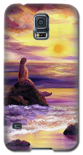 Mermaid In Purple Sunset Galaxy S5 Case