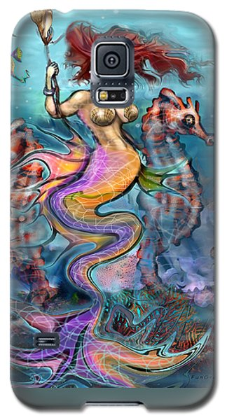 Galaxy S5 Case featuring the painting Mermaid by Kevin Middleton