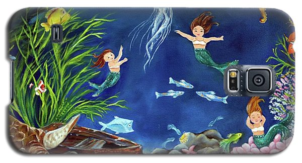 Galaxy S5 Case featuring the painting Mermaid Recess by Carol Sweetwood