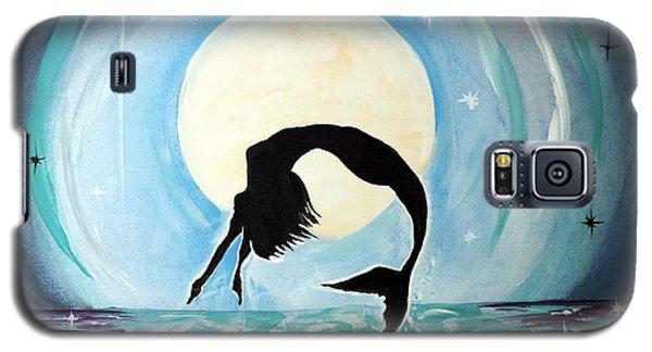 Galaxy S5 Case featuring the painting Mermaid by Tom Riggs