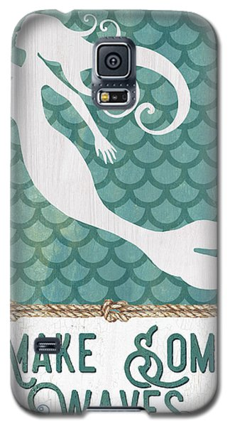 Fairy Galaxy S5 Case - Mermaid Waves 1 by Debbie DeWitt