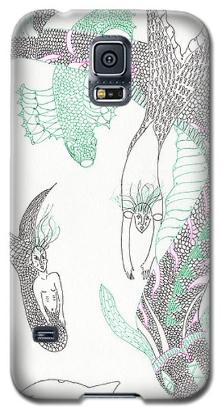 Mermaids And Sea Dragons Galaxy S5 Case