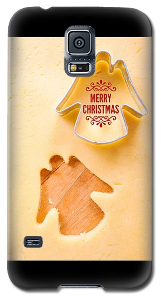 Holiday Galaxy S5 Case - Merry Christmas Angel Cookie Cutter by Matthias Hauser