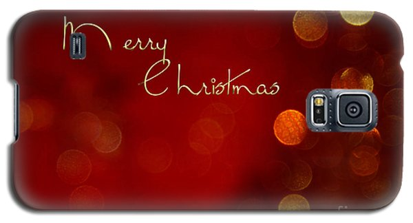 Merry Christmas Card - Bokeh Galaxy S5 Case