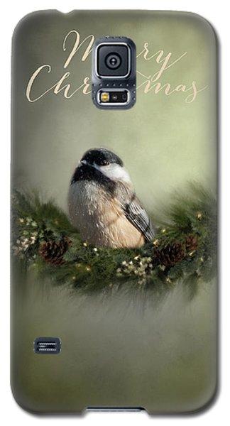 Merry Christmas Chicadee 1 Galaxy S5 Case