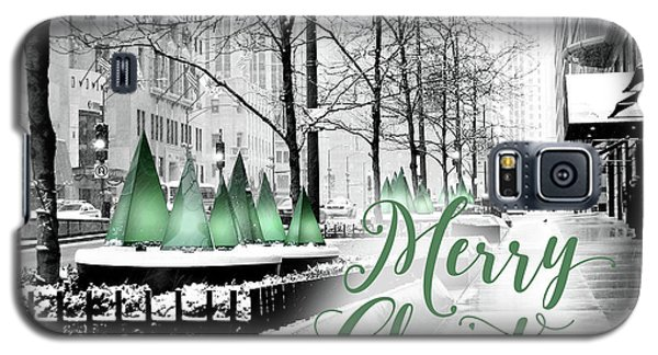 Merry Christmas Chicago Galaxy S5 Case