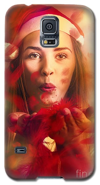 Merry Christmas Elf Galaxy S5 Case by Jorgo Photography - Wall Art Gallery