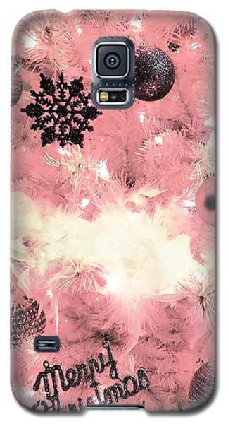 Merry Christmas In Pink Galaxy S5 Case