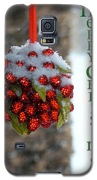 Merry Christmas Galaxy S5 Case by Lisa Knechtel