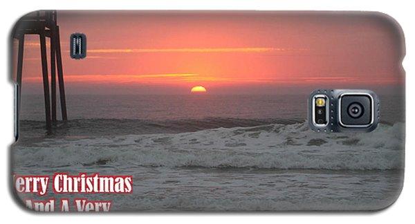 Merry Christmas Sunrise  Galaxy S5 Case by Robert Banach