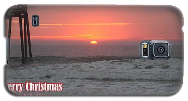 Merry Christmas Sunrise  Galaxy S5 Case
