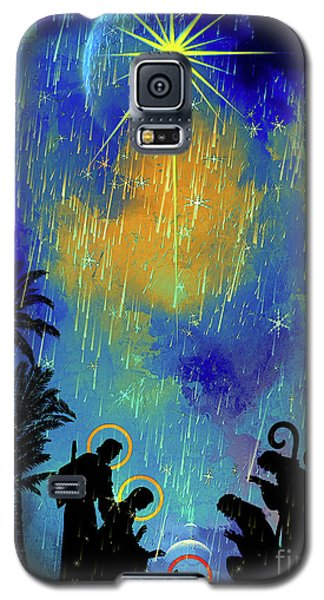 Galaxy S5 Case featuring the painting  Merry Christmas To All. by Andrzej Szczerski