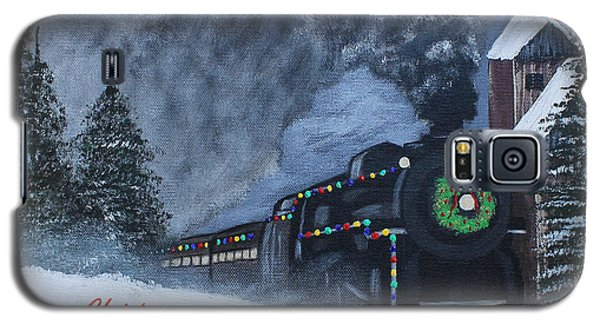 Merry Christmas Train Galaxy S5 Case
