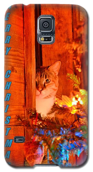 Merry Christmas Waiting For Santa Galaxy S5 Case