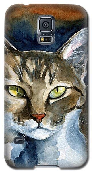 Mesmerizing Eyes - Tabby Cat Painting Galaxy S5 Case