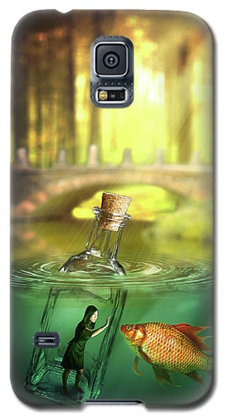 Galaxy S5 Case featuring the digital art Message In A Bottle by Nathan Wright