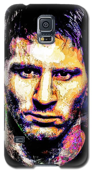 Galaxy S5 Case featuring the mixed media Messi by Svelby Art