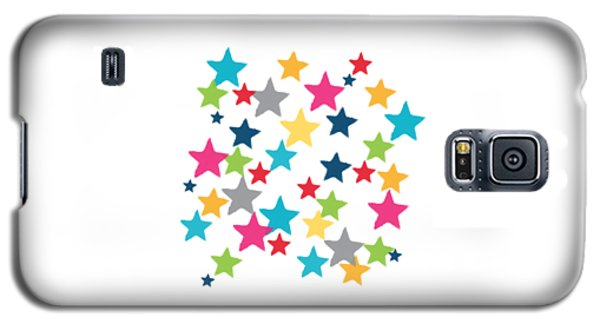 Messy Stars- Shirt Galaxy S5 Case by Linda Woods