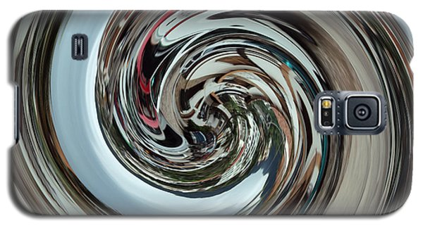Galaxy S5 Case featuring the digital art Metalic Swirl by Kathy Kelly