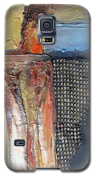 Metallic Fall With Blue Galaxy S5 Case
