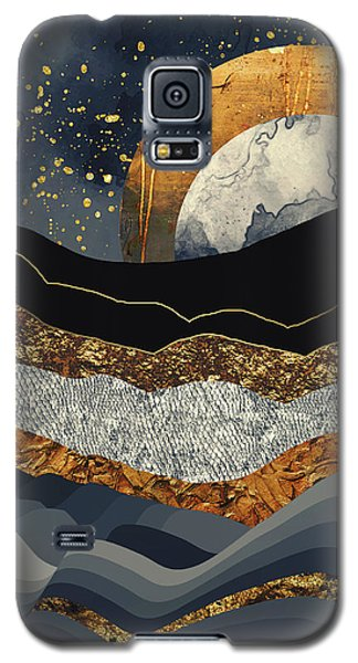 Landscapes Galaxy S5 Case - Metallic Mountains by Katherine Smit