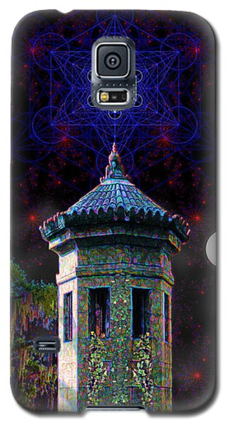 Galaxy S5 Case featuring the digital art Metatron Nocturnal by Iowan Stone-Flowers