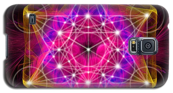 Metatron's Cube With Flower Of Life Galaxy S5 Case
