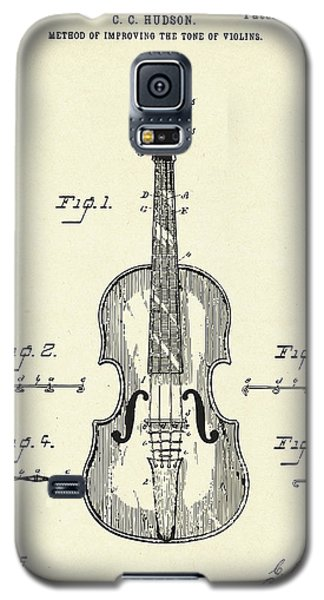 Violin Galaxy S5 Case - Method Of Improving The Tone Of Violins-1888 by Pablo Romero