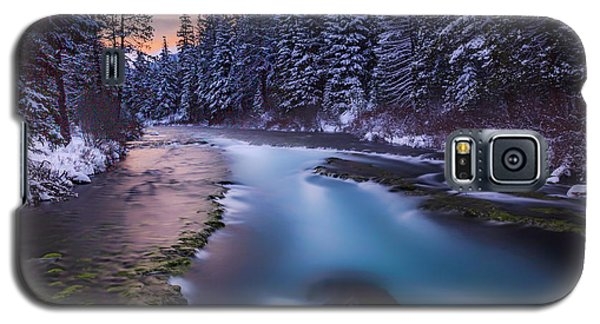 Galaxy S5 Case featuring the photograph Metolius Sunset by Cat Connor
