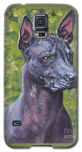 Galaxy S5 Case featuring the painting Mexican Hairless Dog Standard Xolo by Lee Ann Shepard
