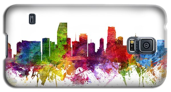 Miami Cityscape 06 Galaxy S5 Case by Aged Pixel