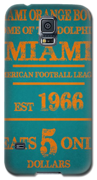 Miami Dolphins Sign Galaxy S5 Case by Joe Hamilton