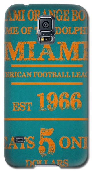 Miami Dolphins Sign Galaxy S5 Case