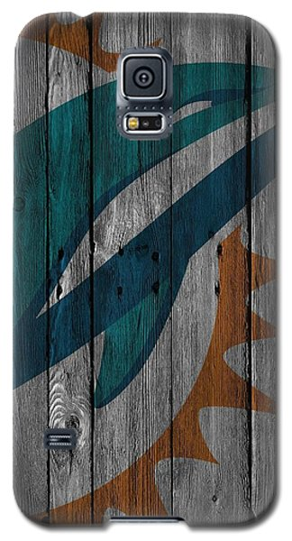 Miami Dolphins Wood Fence Galaxy S5 Case by Joe Hamilton