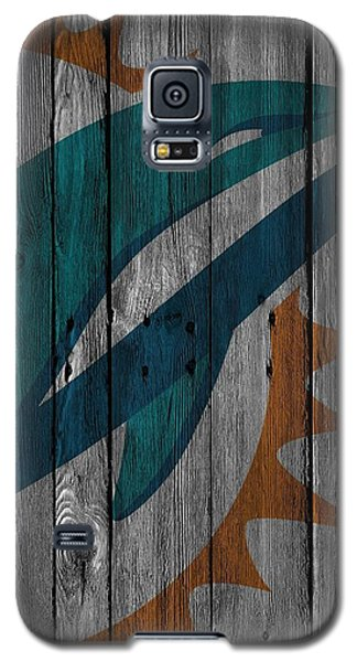 Miami Dolphins Wood Fence Galaxy S5 Case