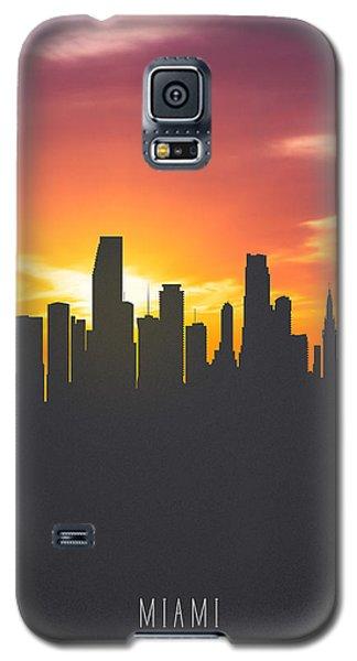Miami Florida Sunset Skyline 01 Galaxy S5 Case