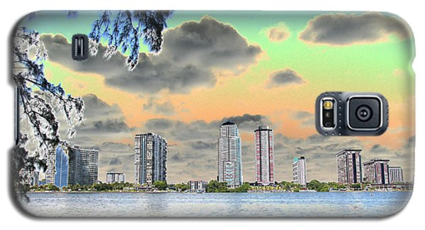 Miami Skyline Abstract Galaxy S5 Case by Christiane Schulze Art And Photography