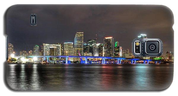 Miami Skyline At Night Galaxy S5 Case