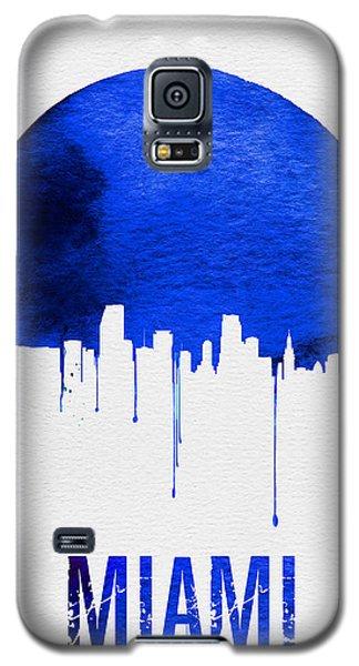 Miami Skyline Blue Galaxy S5 Case by Naxart Studio