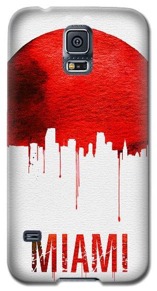 Miami Skyline Red Galaxy S5 Case by Naxart Studio